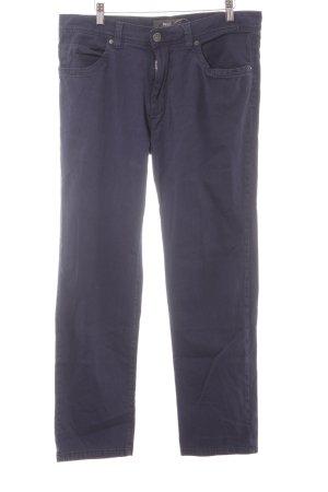 Brax Straight-Leg Jeans dunkelblau Webmuster Casual-Look