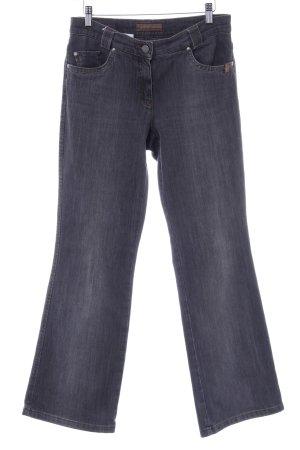 Brax Straight-Leg Jeans grau Metallelemente