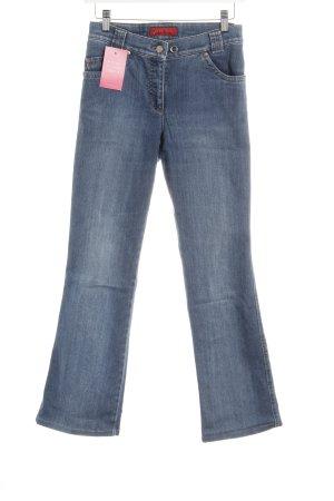 Brax Straight-Leg Jeans kornblumenblau Washed-Optik