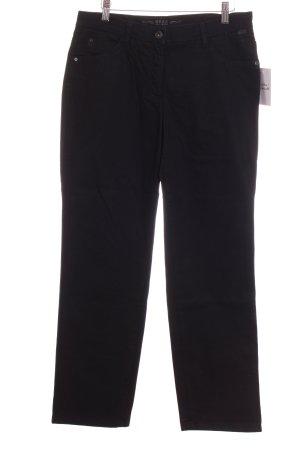 Brax Straight-Leg Jeans schwarz Steppmuster Casual-Look