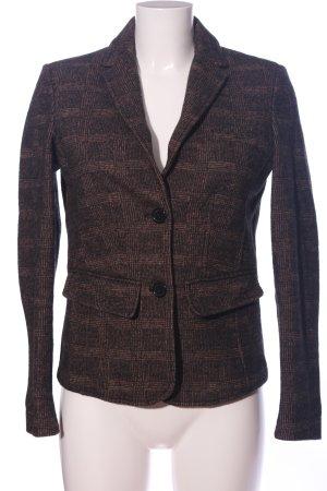 Brax Korte blazer bruin geruite print zakelijke stijl