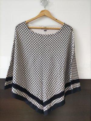 Brax Poncho in maglia bianco-nero