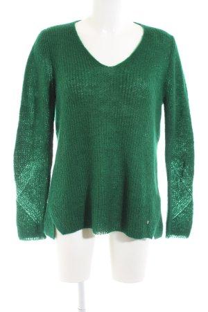 Brax Strickpullover grün Casual-Look