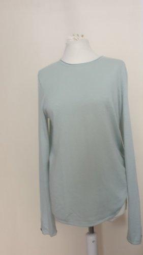 Brax feel Good Kraagloze sweater lichtblauw-grijs-groen