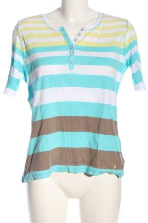 Brax T-shirts en mailles tricotées motif rayé style décontracté