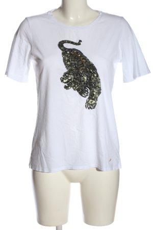 Brax Camiseta blanco estampado temático look casual