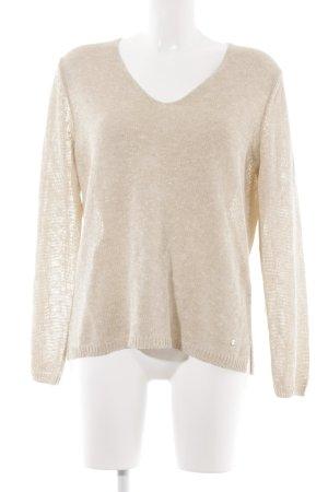 Brax V-Ausschnitt-Pullover creme Casual-Look