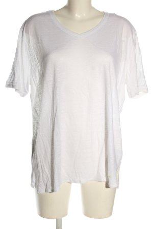 Brax V-Ausschnitt-Shirt weiß Casual-Look