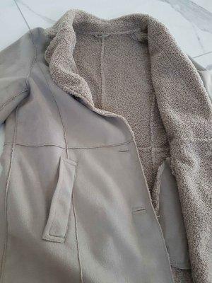 Brax Cappotto in eco pelliccia argento