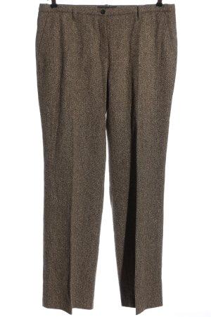 Brax Wełniane spodnie brązowy W stylu biznesowym