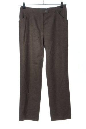 Brax Pantalone di lana marrone puntinato stile professionale