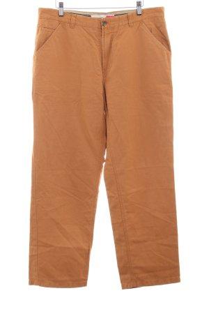 Brax Pantalón de lana naranja oscuro estilo sencillo