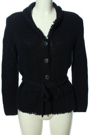 Brax Jersey trenzado negro look casual
