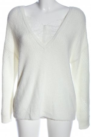 Bréal V-Neck Sweater white casual look