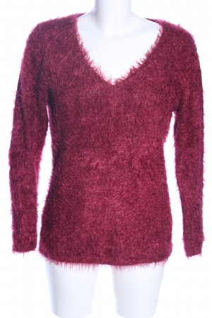 Bréal V-Neck Sweater red casual look