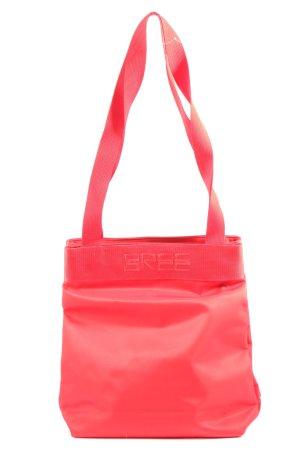 Bree Sac seau rouge lettrage imprimé style décontracté