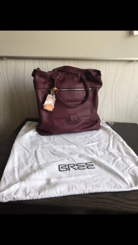 Bree Shopper paars Leer