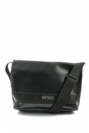 Bree Shoulder Bag black embroidered lettering casual look