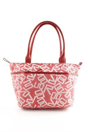 Bree Handtasche rot-weiß Allover-Druck Casual-Look