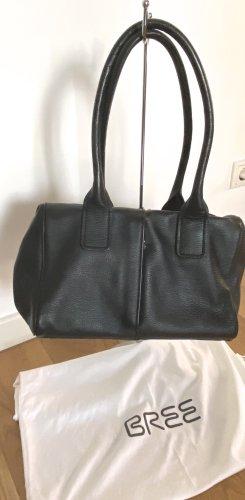 Bree Handtasche schwarz genarbtes Leder