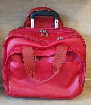 BREE Pilotenkoffer/Businesstasche/Lehrertrolley in knallrot