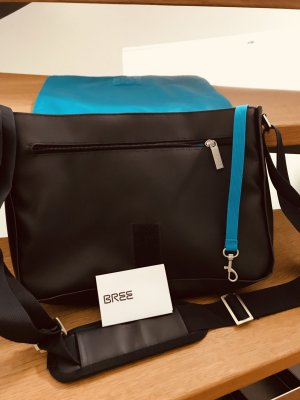 Bree Shoulder Bag dark blue-neon blue mixture fibre