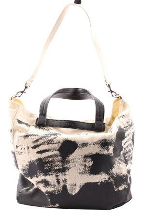 Bree Torba shopper czarny-kremowy Abstrakcyjny wzór W stylu casual