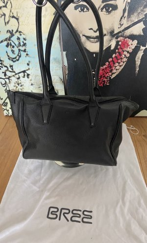 Bree Shoulder Bag black-silver-colored leather