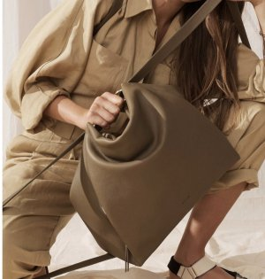 BREE Tasche Pure 7 Olive hobo backpack S20 Umhängetasche Groß Taupe Grün Khaki NEU