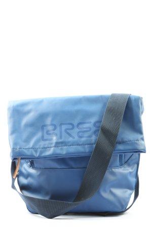 Bree Umhängetasche blau Schriftzug gedruckt Casual-Look