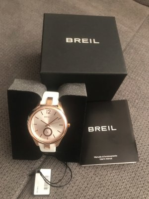 Breil Watch With Leather Strap white