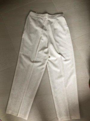 Pantalone di lino beige chiaro Tessuto misto