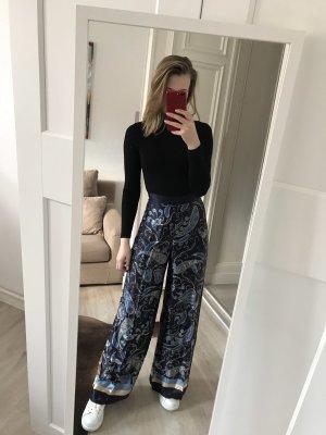 H&M Pantalone a zampa d'elefante color carne-blu