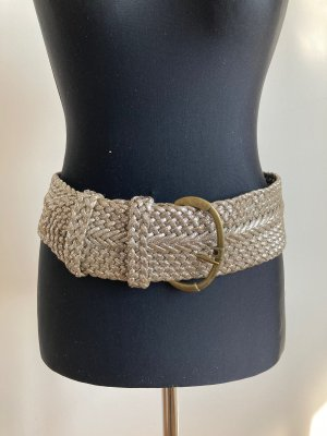 Braided Belt silver-colored