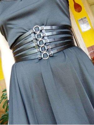 keine Marke Waist Belt black mixture fibre