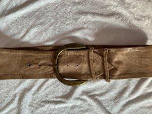 Hallhuber Cinturón pélvico beige-color bronce Cuero