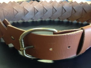 Strenesse Gabriele Strehle Cinturón marrón-color oro