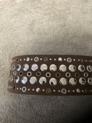 Jones Studded Belt grey brown