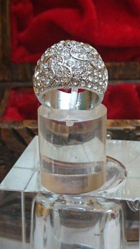 Breiter Ring mit Swarovski Krystall Elements Gr.18