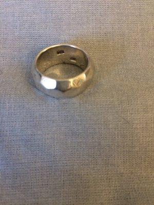 Breiter Ring Sterlig Silber - Unikat