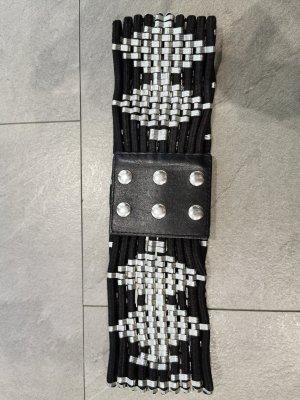 Zara Waist Belt black-silver-colored