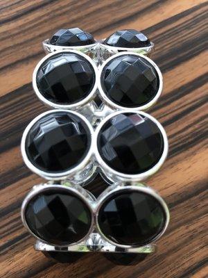 Breites Armband in schwarz