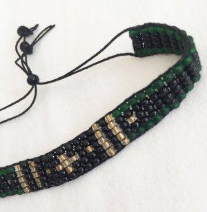 Armband met parels veelkleurig Gemengd weefsel