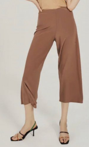 Zara Spodnie palazzo beżowy-brązowy