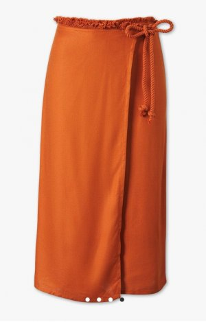 Clockhouse 3/4 Length Trousers dark orange