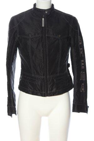 Brema Between-Seasons Jacket black-light grey embroidered lettering casual look