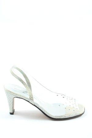 Brenda Zaro Sandaletto con tacco alto argento stile casual