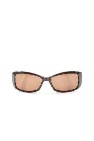 Brendel Angular Shaped Sunglasses brown-natural white leopard pattern