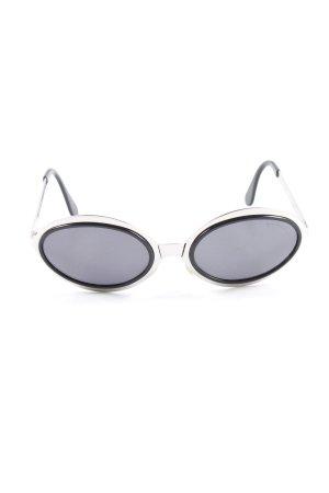 Brendel ovale Sonnenbrille silberfarben-schwarz Logoprint