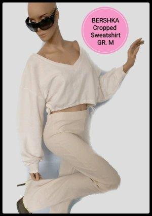 ♡ Breshka Cropped Sweatshirt Weiß Gr. M - Neu